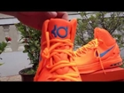 Kevin Durant's Nike KD V All Orange Signature Shoes Area 72 Review (www.shoes-jersey-sale.com)