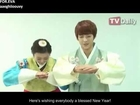 [ENG SUB] 130210 Minhyuk & Yewon New Year Greetings (trans for Minhyuk parts)