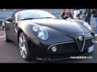 Alfa Romeo 8C Spyder LOUD REVVING!