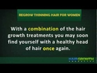 How to Regrow Thinning Hair for Women