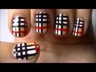 Burberry Print Nail Art