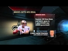 Record Deal For Drew Brees