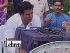 On Sets Of Roshini With Milind Soman