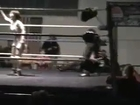 Sumie Sakai  stinkfaces Kelly Peirce and Referee